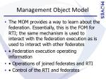 management object model