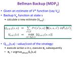 bellman backup mdp 2