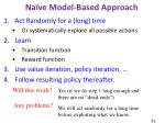 na ve model based approach