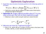 optimistic exploration