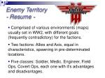 enemy territory resume