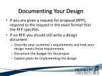 documenting your design