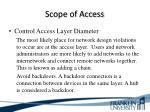 scope of access