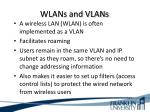 wlans and vlans