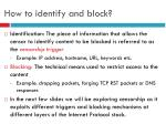 how to identify and block