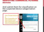 identifying commercial filtering devices2
