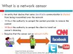 what is a network censor