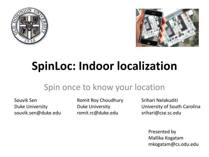 spinloc indoor localization n.