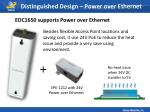 distinguished design power over ethernet