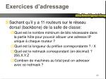 exercices d adressage