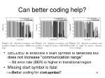 can better coding help