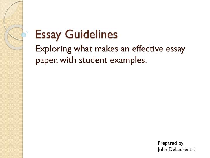 what makes an effective essay