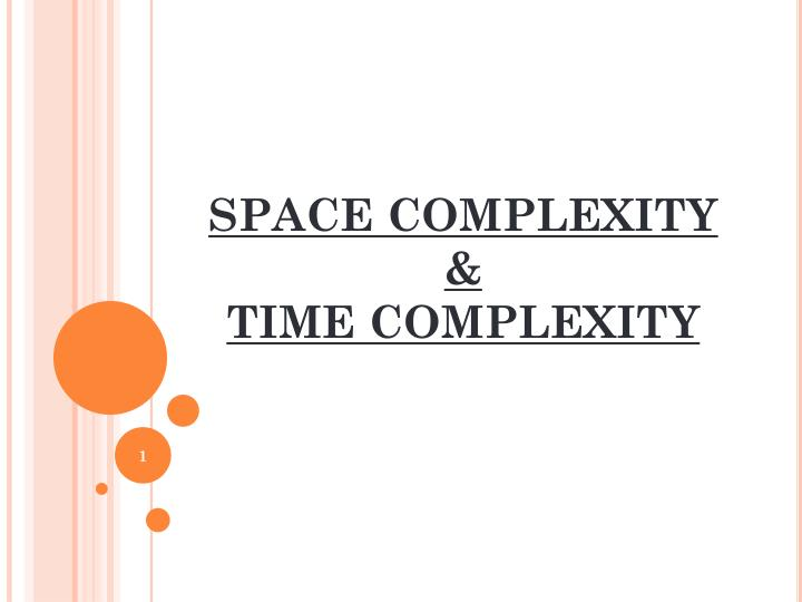 space complexity time complexity n.