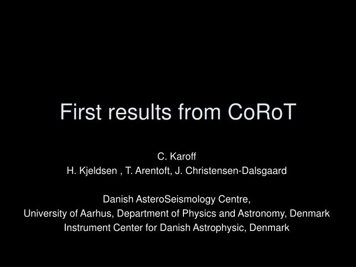 first results from corot n.