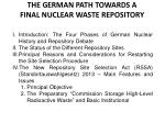 the german path towards a final nuclear waste repository