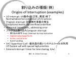 origins of interruption examples