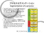 segmentation of a process