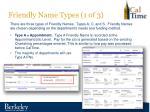 friendly name types 1 of 3