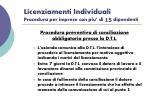 licenziamenti individuali procedura per imprese con piu di 15 dipendenti