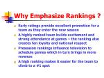 why emphasize rankings