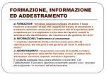 formazione informazione ed addestramento