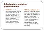infortunio e malattia professionale