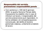 responsabile del servizio prevenzione responsabilit penale
