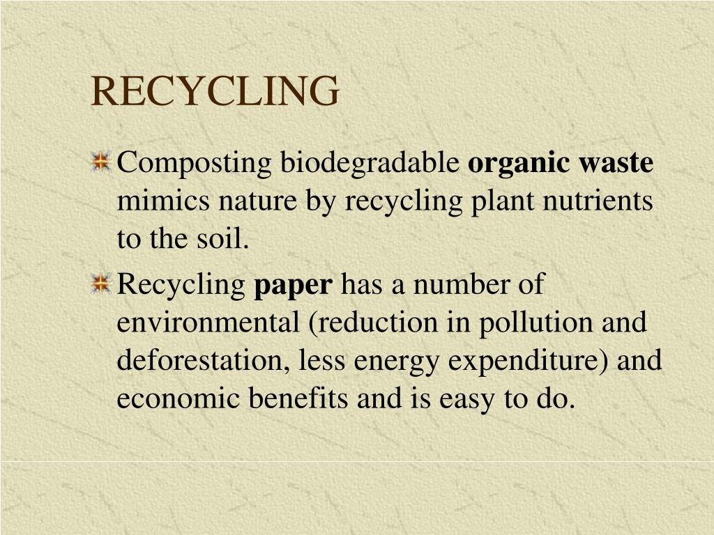 PPT - Waste Disposal and Recycling PowerPoint Presentation