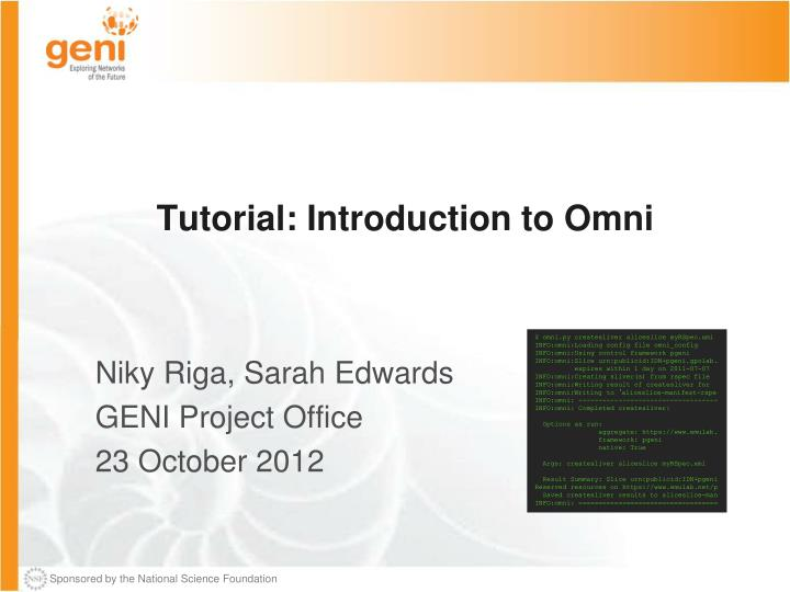 tutorial introduction to omni n.