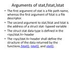 arguments of stat fstat lstat