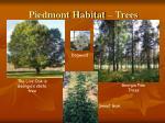 piedmont habitat trees