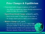 price changes equilibrium