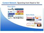content network spanning from head to tail