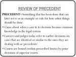 review of precedent