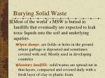 burying solid waste