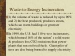 waste to energy incineration
