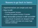 reasons to go back to basics