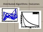 distributed algorithms outcomes