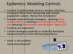 epidemics modeling controls
