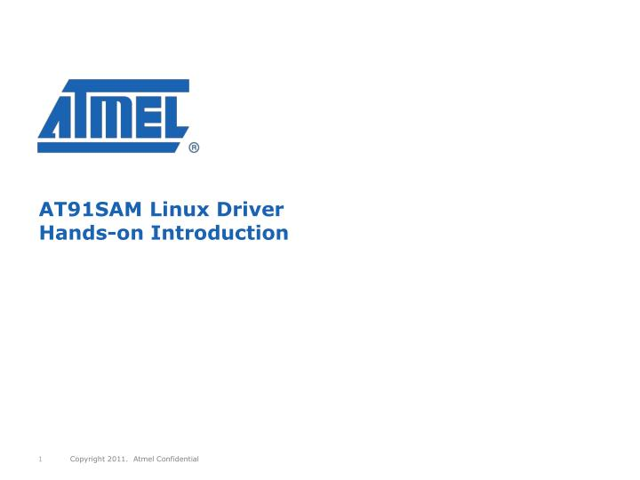 at91sam linux driver hands on introduction n.