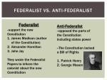federalist vs anti federalist