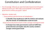 constitution and confederation