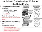 articles of confederation 1 st gov of the united states