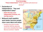 prior knowledge these united states what is problem with american identity