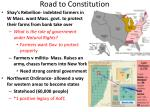 road to constitution