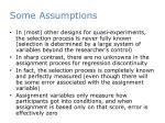 some assumptions1