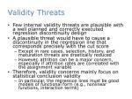 validity threats