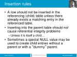 insertion rules