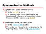 synchronization methods