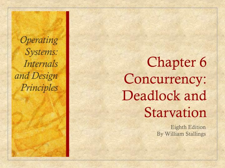 chapter 6 concurrency deadlock and starvation n.
